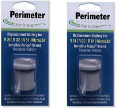 Amazon Com Invisible Fence Compatible R21 R51 And Microlite Dog Collar Battery 2pk By Pet Stop Perimeter Technologies Wireless Pet Fence Products Pet Supplies
