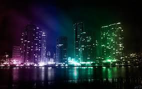 city wallpaper lights retro mental