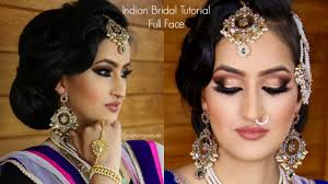 indian bridal makeup tutorial full face