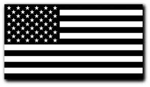 Black And White American Flag Decal Car Truck Marines Army Etsy