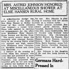 Ida Hansen attends shower for Astrid Johnson - Newspapers.com