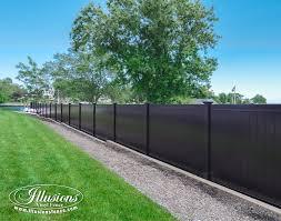 Black Plastic Fencing Panels