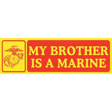 Emarine Px My Brother Is A Marine Bumper Sticker