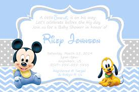 Baby Mickey Mouse Baby Shower Invitation 8 99 Undangan Horor