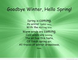 goodbye winter and hello spring poem quote