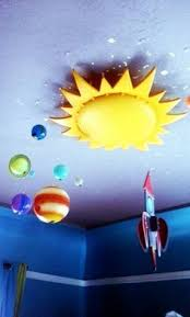Ikea Sun Light Rocket Ship And Planets Space Themed Room Space Themed Bedroom Boy Room