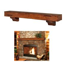 fireplace mantel floating shelf rustic