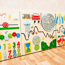 Play Wall Toy Set Of 8 Sensory Panels For Waiting Room Special Etsy