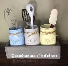 mason jar utensil holder mothers day