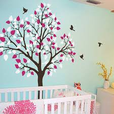 Tree With Flying Birds Wall Decals Murals Home Decor Winter Vinyl Wall Decals Tree Wall Decal Birds Birdcage Wall Decals Nursery Wall Sticker Kids Children Wall Decals Wall Decals Murals
