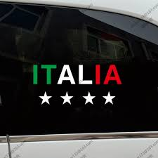 Flag Of Italy Italian 4 Champion Stars Football Car Truck Decal Sticker Vinyl Die Cut Choose Your Size Buy At The Price Of 3 00 In Aliexpress Com Imall Com