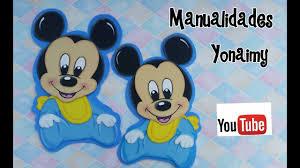 Mickey Mouse Bebe Para Centros De Mesa Y Otras Manualidades En