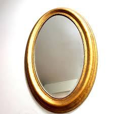 ikea golden frame oval mirror