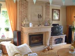 natural stone fireplace white marble