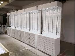 locking sunglass display rack led wall