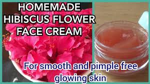 homemade hibiscus flower face cream