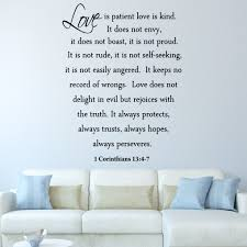 Love Is Patient Love Is Kind Wall Decal Marriage Bible Quote Religious Vwaq Lip2 Wall Decal