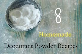 eight homemade deodorant powder recipes