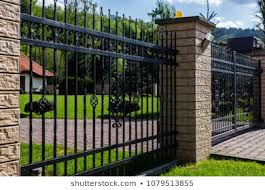 Steel Fence Design Images Stock Photos Vectors Shutterstock
