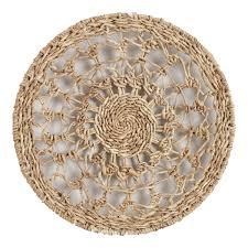 natural woven banana bark disc wall