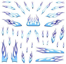 Blue Flames Decals For Pinewood Derby Ca Buy Online In Czech Republic At Desertcart