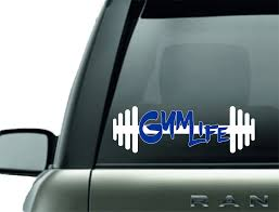 Workout Decals Barbells And Handcuffs