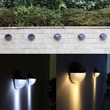 Solar Power Light Sensor 6 Led Wall Light Outdoor Garden Fence Waterproof Lamp Lighting Wall Lamp 10 10 5 Cm Fence Night Outdoor Wall Lamps Aliexpress