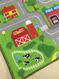 town road kids play car rug no smell