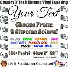 3 Custom Chrome Lettering Decal Sticker Vinyl Boat Registration Numbers Letters Ebay