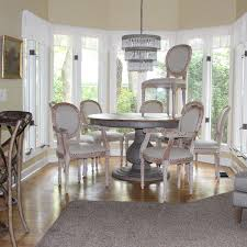 Dining Room Kitchen Chairs Two Arm And Four Side Aged White Wash Fabric The Kings Bay