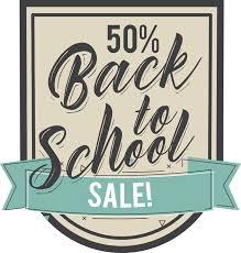 Back To School Chalkboard Shop Sticker Tenstickers