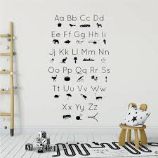 Abc Alphabet Picture Icons Silhouettes Wall Decal Kids Vinyl Art Stickers Playroom Removable Wall Sticker Bedroom Posters Z176 Wall Stickers Bedroom Stickers Bedroomwall Decals Kids Aliexpress