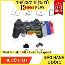 Tay cầm chơi game PC / Laptop / Điện thoại / Tivi (TV) Android - Tay cầm chơi  game không dây giá rẻ kết nối USB 2.4G