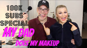 my dad does my makeup challenge 100k