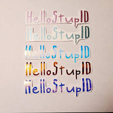 Hello Stupid Sticker Iu Kpop Decal Stickers Custom Etsy