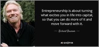 richard branson quote entrepreneurship is about turning what