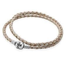 double braided leather bracelet