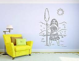Moana Wall Mural Vinyl Decal Sticker Decor Cartoon Girl Hawaii Kids Room Ebay