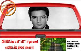 W536 Elvis Presley King Rock Roll Car Printed Vinyl Rear Window Decal Graphic For Sale Online Ebay
