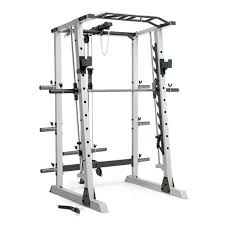 Marcy Deluxe Cage with Smith Machine, Olympic Rack, and Cable Pulley System  with 600lb. Capacity - Walmart.com - Walmart.com