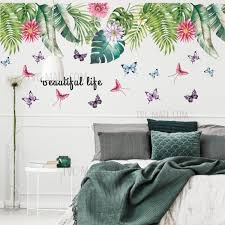 Leaf Butterfly Pattern Wall Stickers Home Decor Adhesive Wallpaper Mural Art Decalonline Sale Tvc Mall
