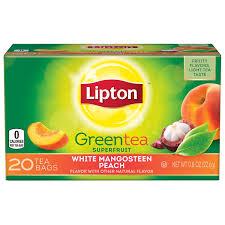 lipton green tea bags white mangos