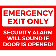 Emergency Exit Only Set Of 2 Self Adhesive Sticker Signs 8 By 10 Inches Decal Stickers Set Of 2 Self Adhesive Highly Visible Emergency Exit Signs By Mp Signs Walmart Com Walmart Com