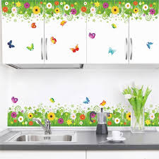 Colorful Flowers Butterflies Fences Baseboard Wall Stickers Bedroom Kids Rooms Home Decor Pvc Wall Decals Diy Mural Art Baby Wall Decal Baby Wall Decals From Anzhuhua 35 88 Dhgate Com