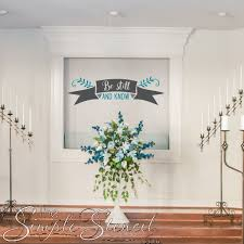 Be Still And Know Removable Vinyl Wall Art Decals For Your Christian Home