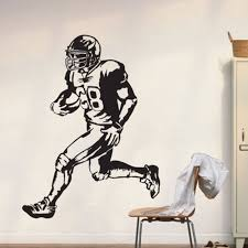 Boy Bedroom Decoration Nfl Player Wall Decal Boys Decor Vinyl Mural Deacl Sticker Size 80x60cm In Wall Stickers From Home Garden On Aliexpress Com Alibaba Group