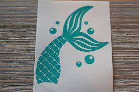 Mermaid Tail Mermaid Tail Decal Mermaid Tail Car Decal Etsy