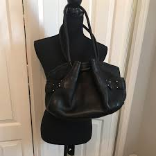 black lunch tote leather handbag