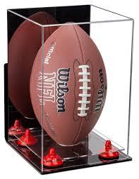 acrylic football display case vertical