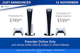 PS5 Available to Preorder with EB Games Australia